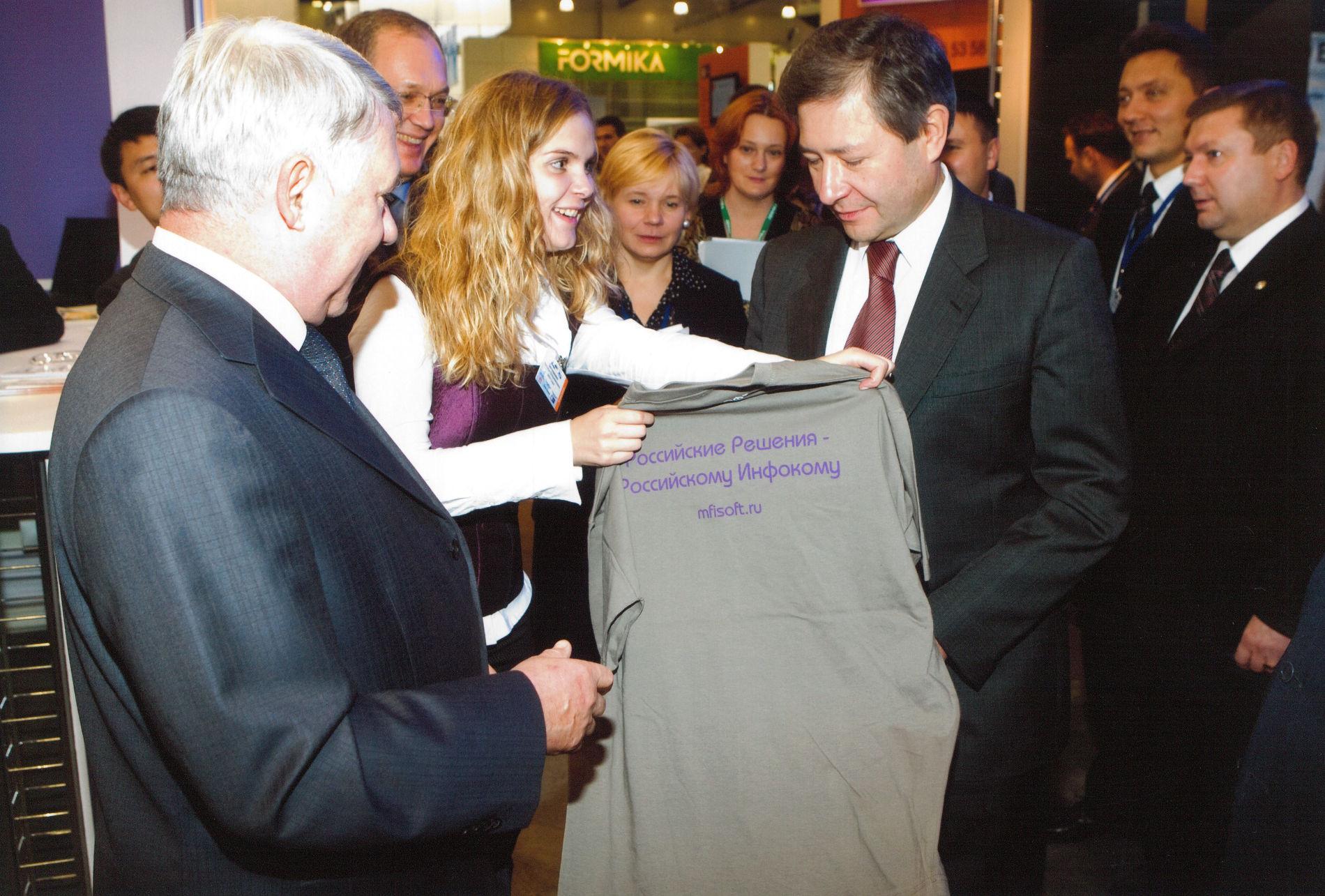Леонид Рейман на Международной выставке-форуме «ИнфоКом-2007» ©Изображение предоставлено Леонидом Рейманом