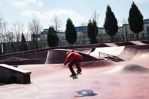 Скейтбордист в парке «Краснодар» ©Фото Елены Синеок, Юга.ру