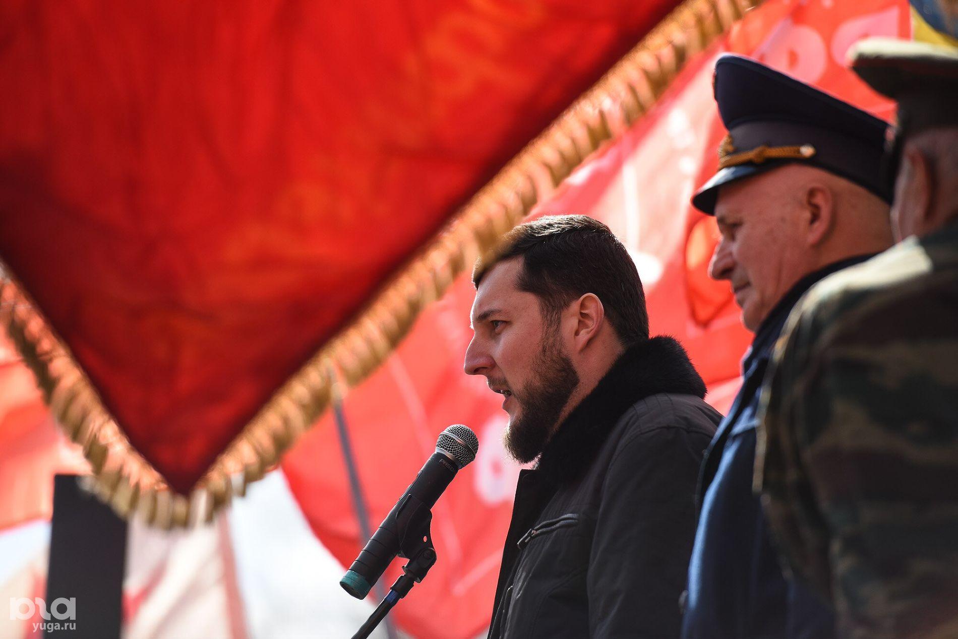 Александр Вергелес. Митинг протеста в Вишняковском сквере Краснодара ©Фото Елены Синеок, Юга.ру
