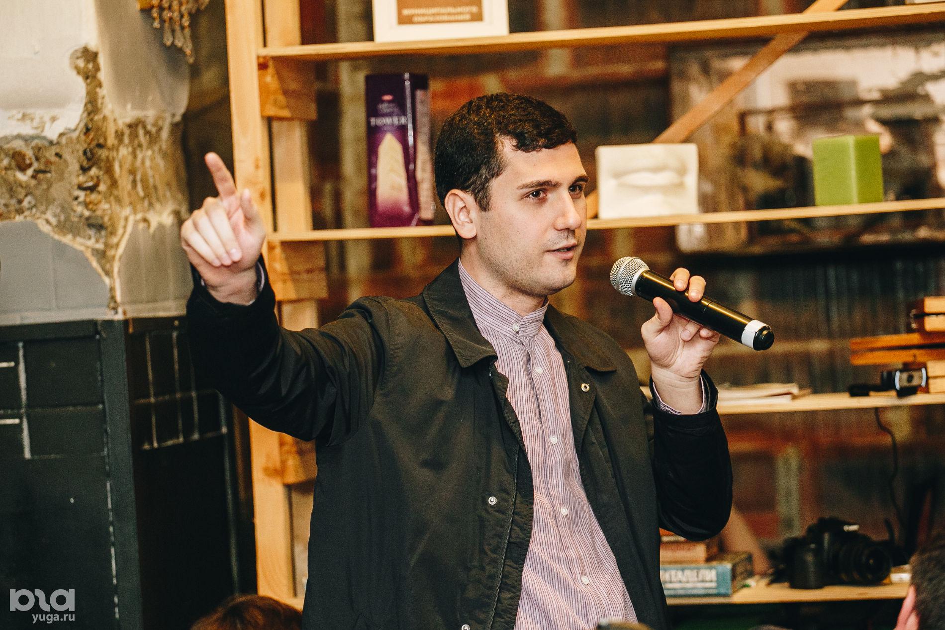 Давид Канкия. Дебаты штаба Навального со «Штабом народного единства» в Краснодаре ©Фото Дениса Яковлева, Юга.ру