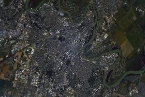 Город из космоса ©Фото с сайта mediareporter.ru