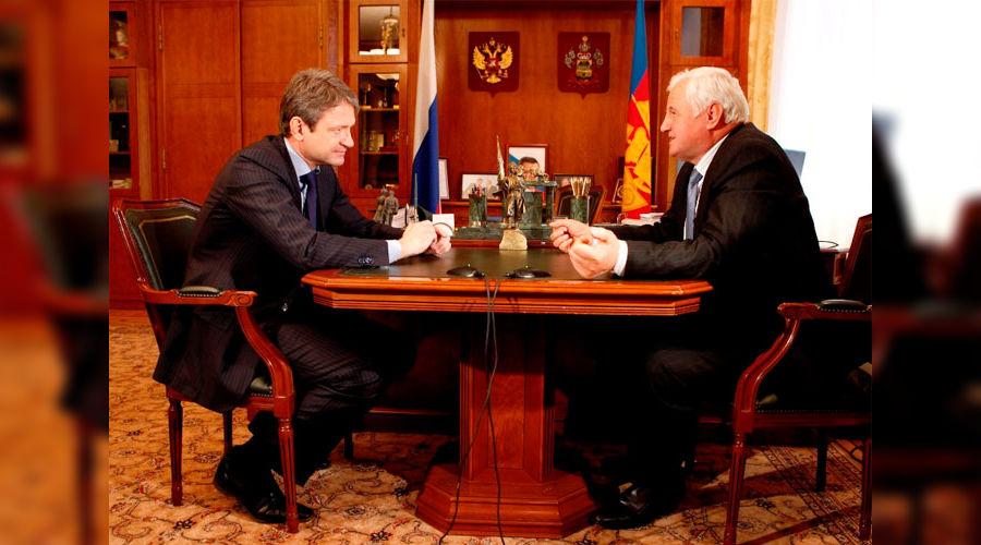 Александр Ткачев и Николай Кондратенко ©Фото Юга.ру