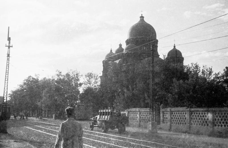 Екатерининский собор в 1949 году ©Фото с сайта myekaterinodar.ru