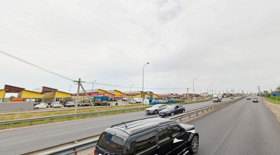 Туршеневское шоссе в поселке Яблоновском возле «Монарамы» ©Скриншот страницы сайта «Яндекс.Карты», yandex.ru/maps