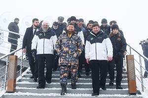 Открытие курорта «Ведучи» в Чечне ©Фото из аккаунта instagram.com/minkavkaz