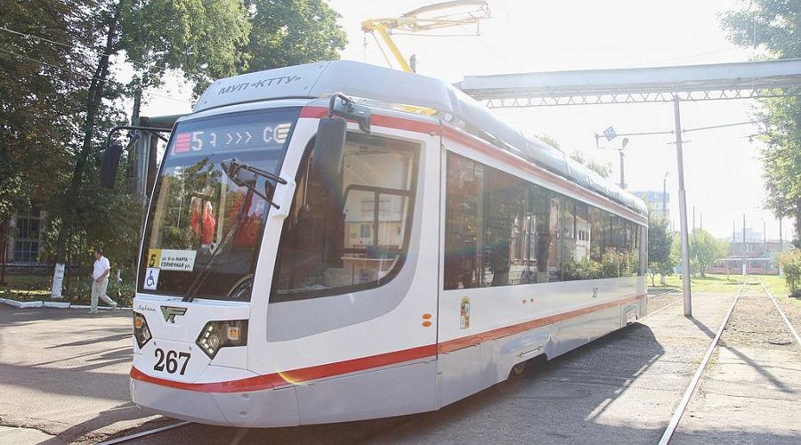 Новый трамвай ©Фото пресс-службы администрации Краснодарского края