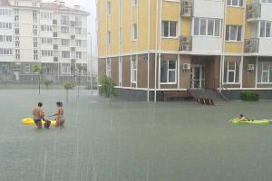 """Наводнение в Сочи 25 июня 2015 года. Адлер, комплекс """"Бархатные сезоны""""  ©http://www.blogsochi.ru"""