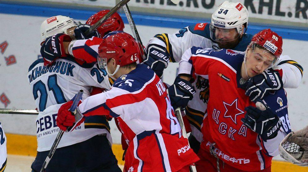 ЦСКА обыграл «Сочи» ипомог «Витязю» выйти вплей-офф КХЛ