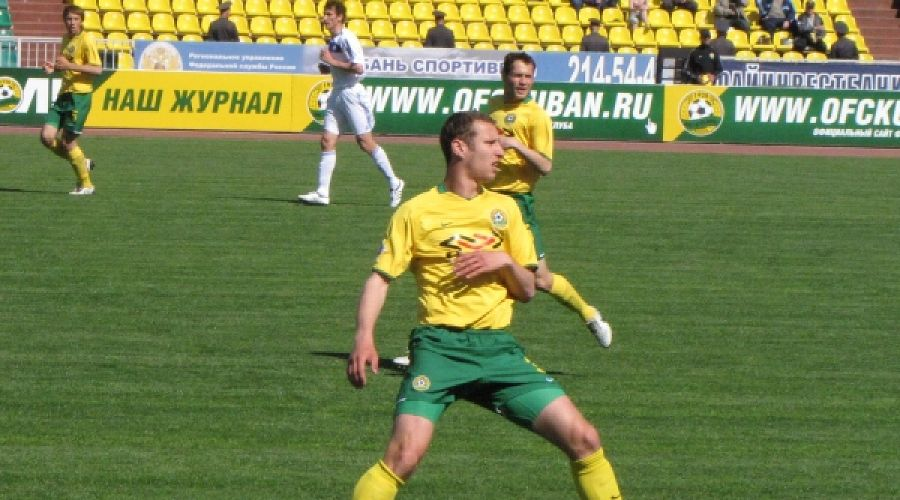 "Виктор Головатенко (ФК ""Кубань"") ©Фото Юга.ру"