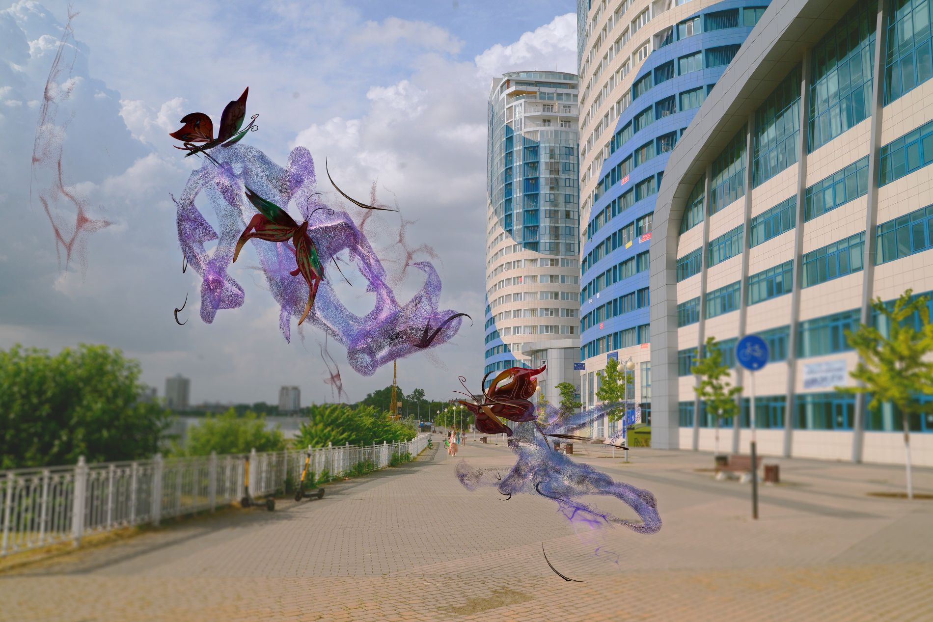 «Пыльца», виртуальная скульптура Анны Таганцевой-Кобзевой ©Пресс-служба фестиваля Rosbank Future Cities