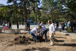 Парк имени Ивана Семыкина в станице Тбилисской ©Фото Евгения Мельченко, Юга.ру