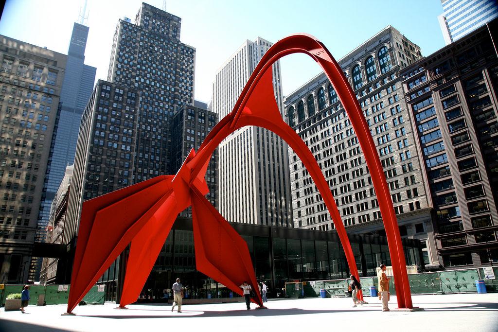 Скульптура Александра Колдера в Чикаго