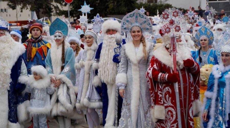 Парад Дедов Морозов ©http://kulturakubani.ru/
