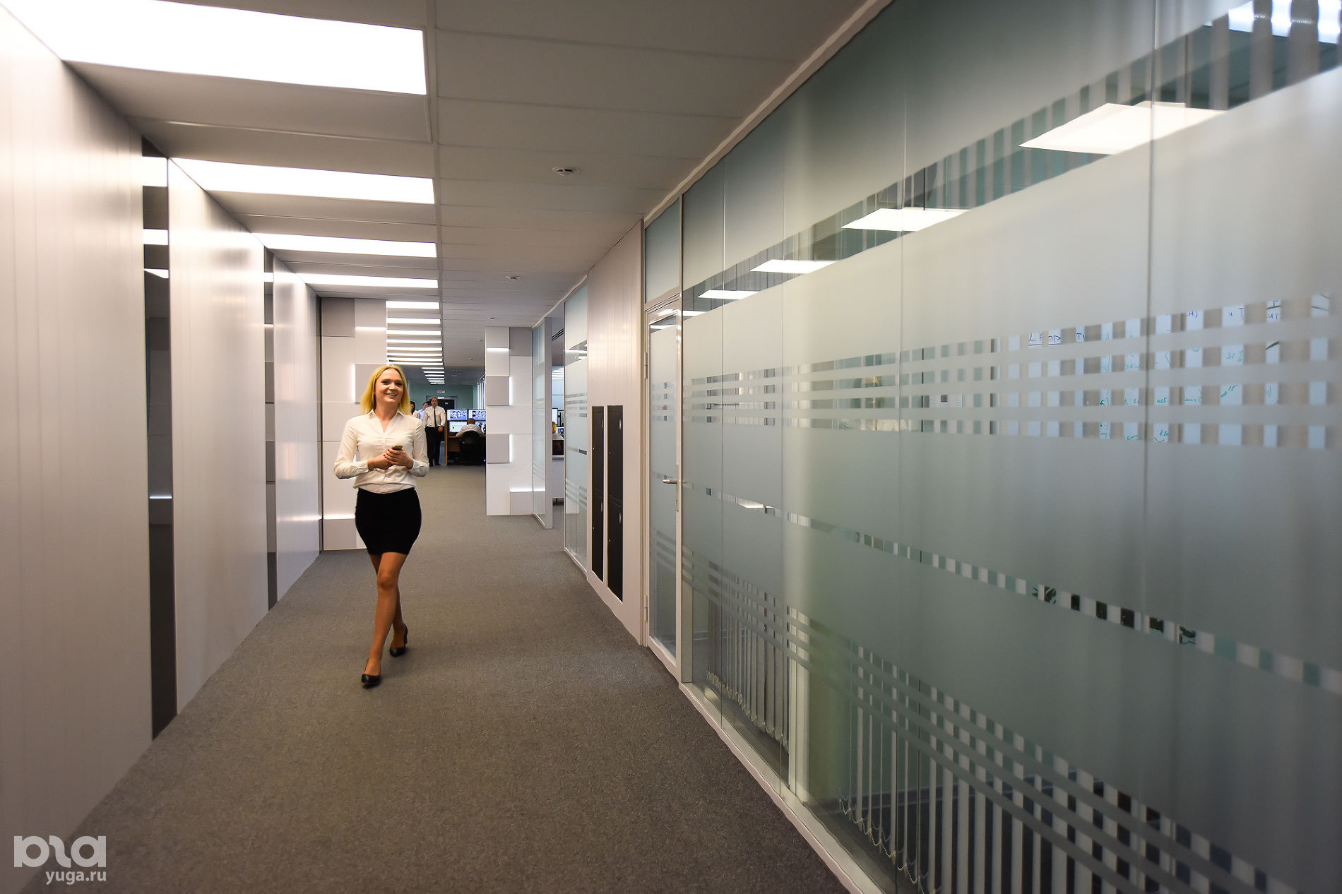 Головной офис компании «Магнит». Холл Центра управления процессами ©Фото Елены Синеок, Юга.ру