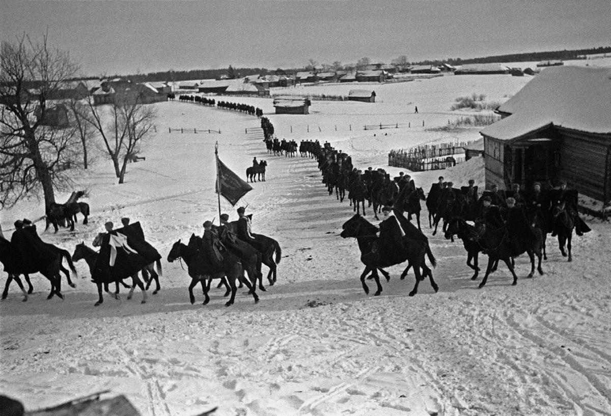 Кавалеристы 2-го гвардейского корпуса в Подмосковье, 1941 год