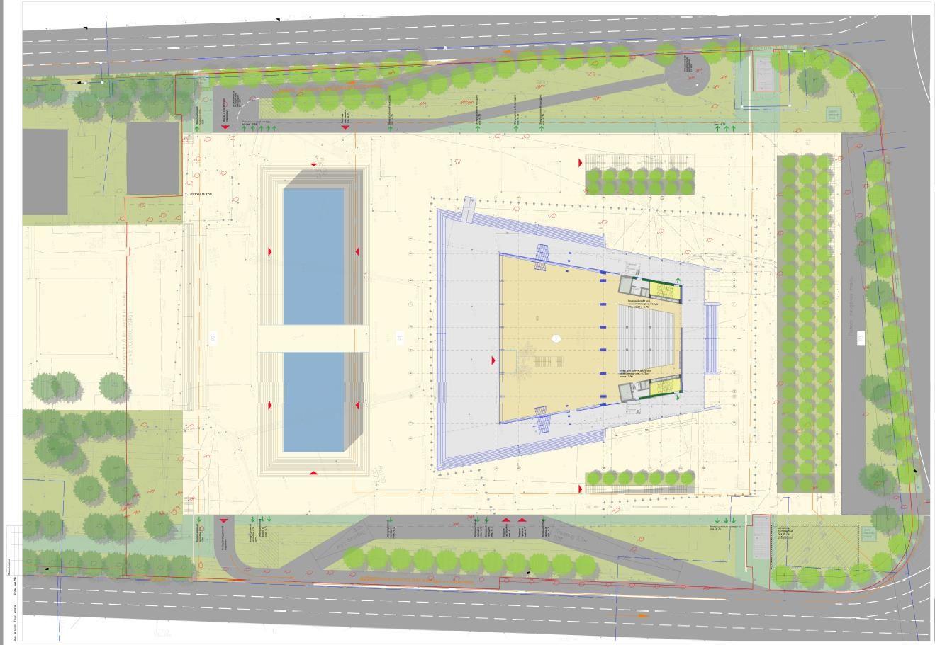 Схема генерального плана ©Фото из презентации пресс-службы администрации Краснодара
