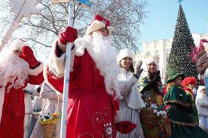 Шествие Дедов Морозов в Краснодаре ©Виталий Тимкив, Юга.ру