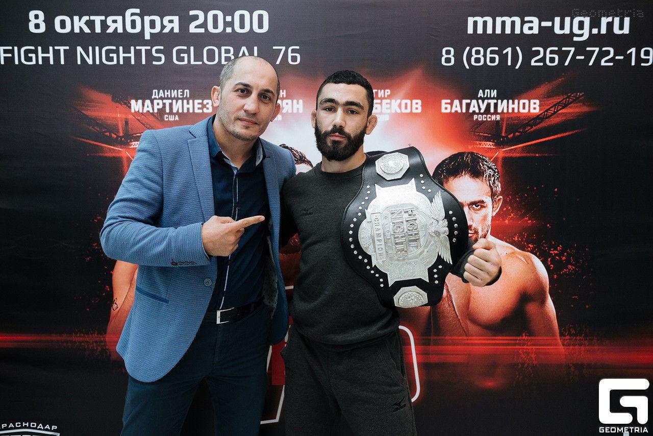 Юрий Батмен и Вартан Асатрян на пресс-конференции в Краснодаре перед Кубком Мира 7–8 октября
