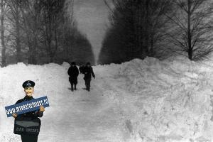 Шоссе Пилотов у Летного училища. Зима 1954 года ©Фото с сайта myekaterinodar.ru