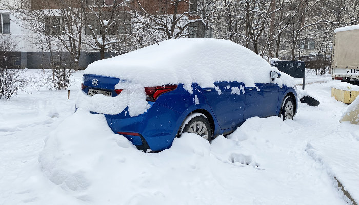 Снег в Краснодаре. Зима 2020–2021 ©Фото Валерии Дульской, Юга.ру