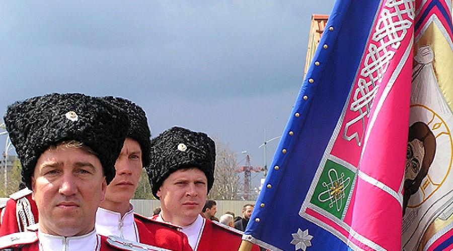 Торжественная встреча регалий кубанского казачества. В аэропорту ©Фото Юга.ру