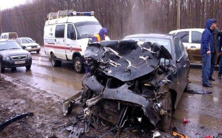 Натрассе «Ростов— Таганрог» столкнулись одиннадцать авто