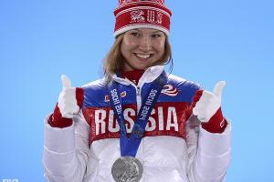 Конькобежка Ольга Фаткулина завоевала серебряную медаль на дистанции 500 м ©РИА Новости