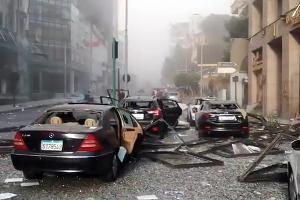 Бейрут после взрыва ©Кадр из видео очевидцев, facebook.com