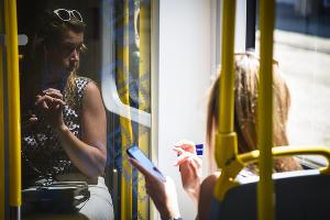 """Новый трамвай """"Метелица"""" презентовали в Краснодаре ©Фото Елены Синеок, Юга.ру"""