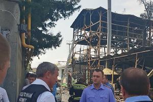 Пожар в Сочи 30 июля 2018 года ©Фото пресс-службы СУ СК РФ по Краснодарскому краю