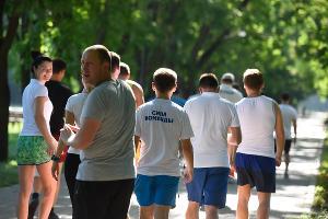 Тренировочный забег газовиков в Краснодаре ©Фото Елены Синеок, Юга.ру