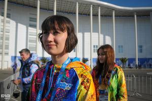 На входе в медиацентр все время находятся волонтеры, готовые помочь с любыми вопросами ©Елена Синеок, ЮГА.ру