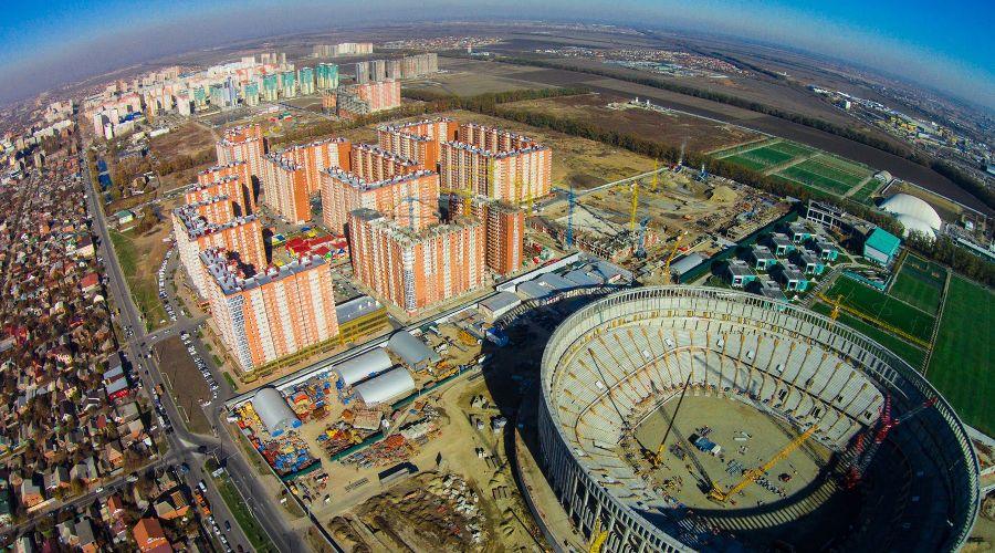 Район улицы Восточно-Кругликовской ©Фото (с) Fly Krasnodar, оригинал: i.ytimg.com/vi/bz7ha6zZAP0/maxresdefault.jpg