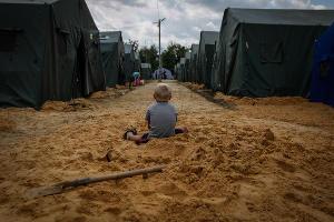 В лагере беженцев на границе между Украиной и Россией ©Фото Юга.ру