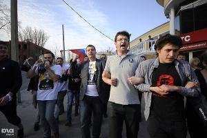 Шествие сторонников Олега Шеина в Астрахани ©Михаил Мордасов. ЮГА.ру