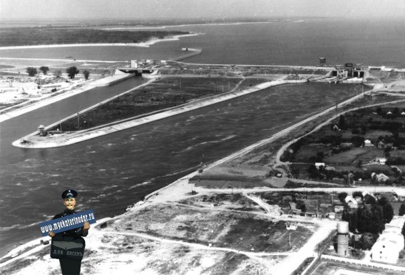 Краснодар, водосброс Кубанского водохранилища, предположительно 1976 год ©Фото с сайта http://www.myekaterinodar.ru