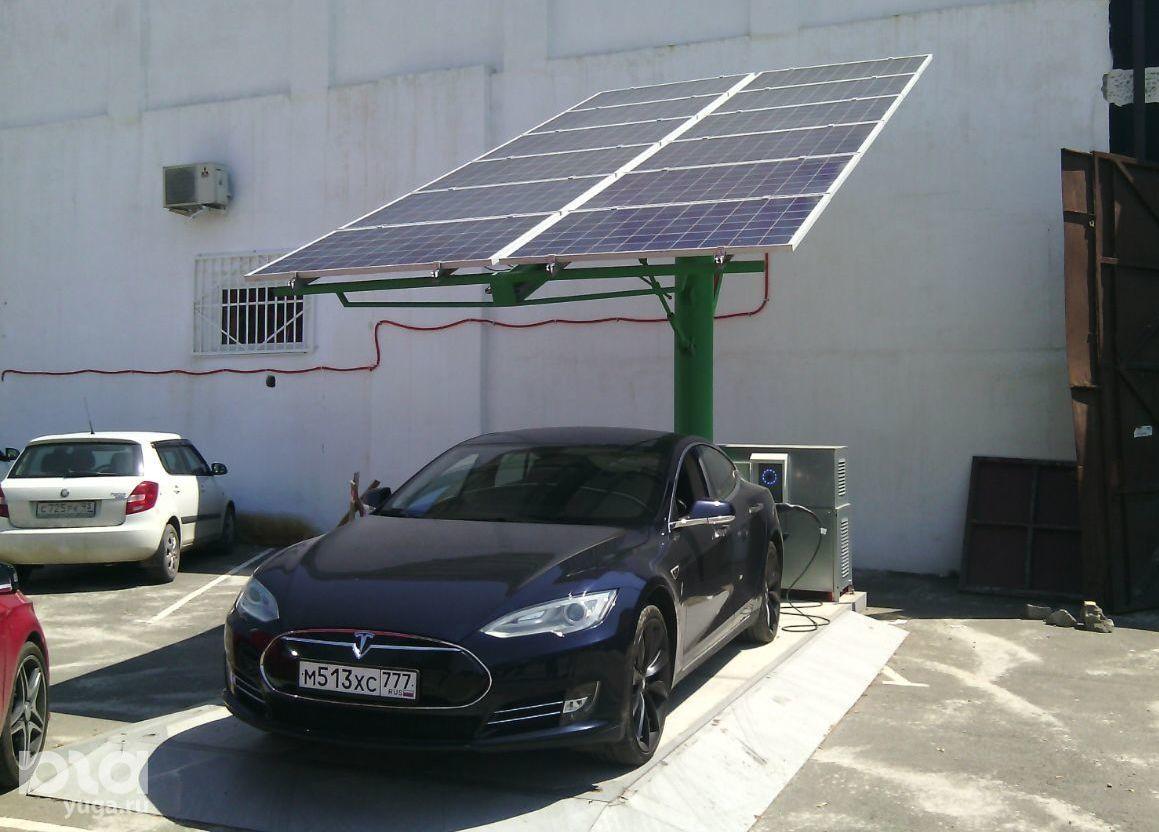 Зарядная станция на солнечных батареях ©Фото Павла Панарина