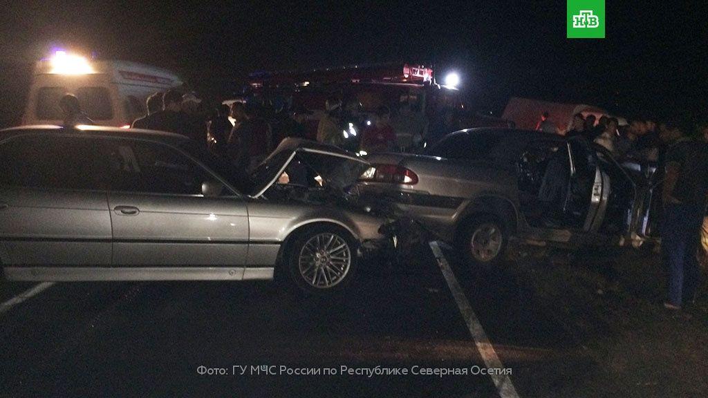 ВСеверной Осетии в трагедии счетырьмя автомобилями умер человек