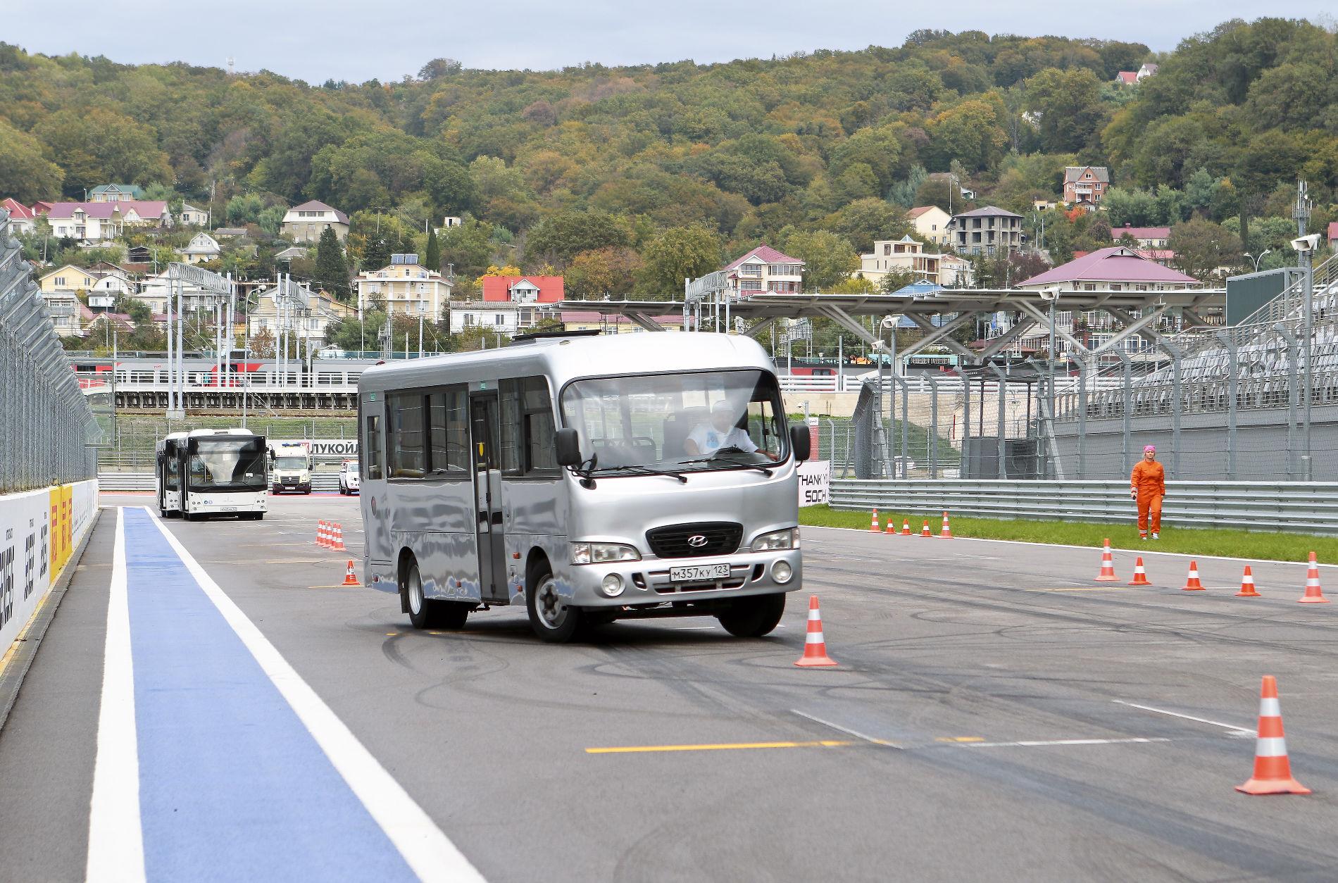 ВСочи водители автобусов посоревнуются натрассе «Формулы 1»