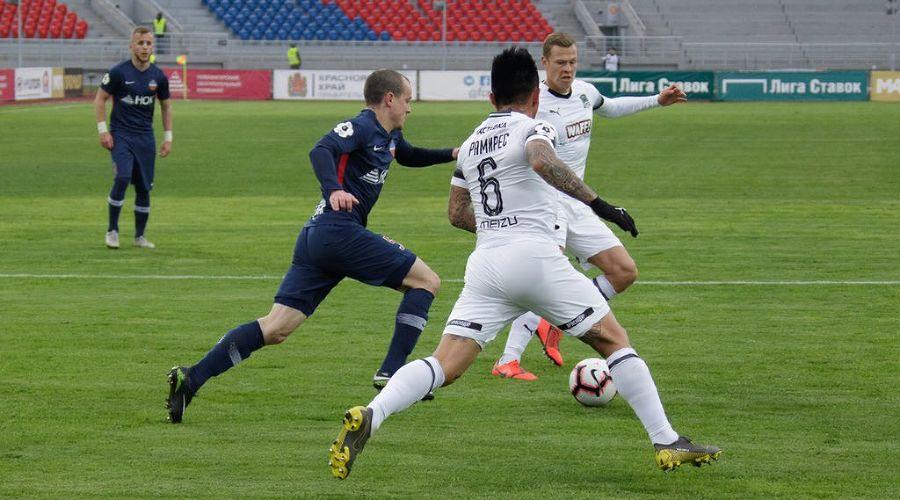 Матч 22-го тура РПЛ «Енисей» — «Краснодар». 11 мая 2019 года ©Фото пресс-службы ФК «Енисей»