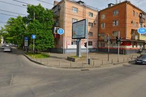 Перекресток улиц Рашпилевской и Хакурате ©Скриншот с сервиса «Яндекс.Карты»