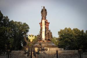 Памятник Екатерине II в Краснодаре ©catherine-ps.livejournal.com