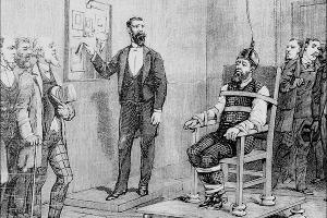 Первая казнь на электрическом стуле, 1890 год ©Историческая гравюра