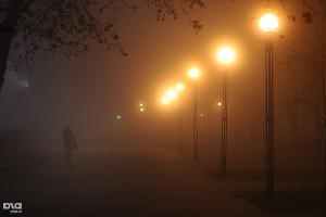 Туман в Краснодаре ©Алёна Живцова, ЮГА.ру