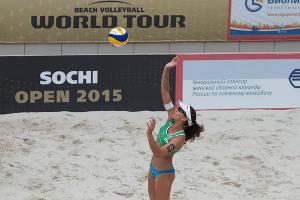 "Чемпионат по пляжному волейболу ""Sochi Open"" ©Нина Зотина, ЮГА.ру"