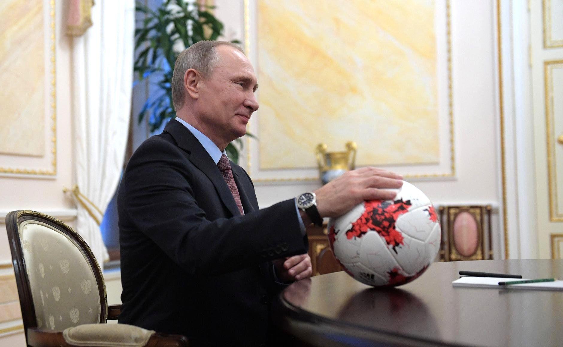Image result for Путин Инфантино  футбол в Кремле