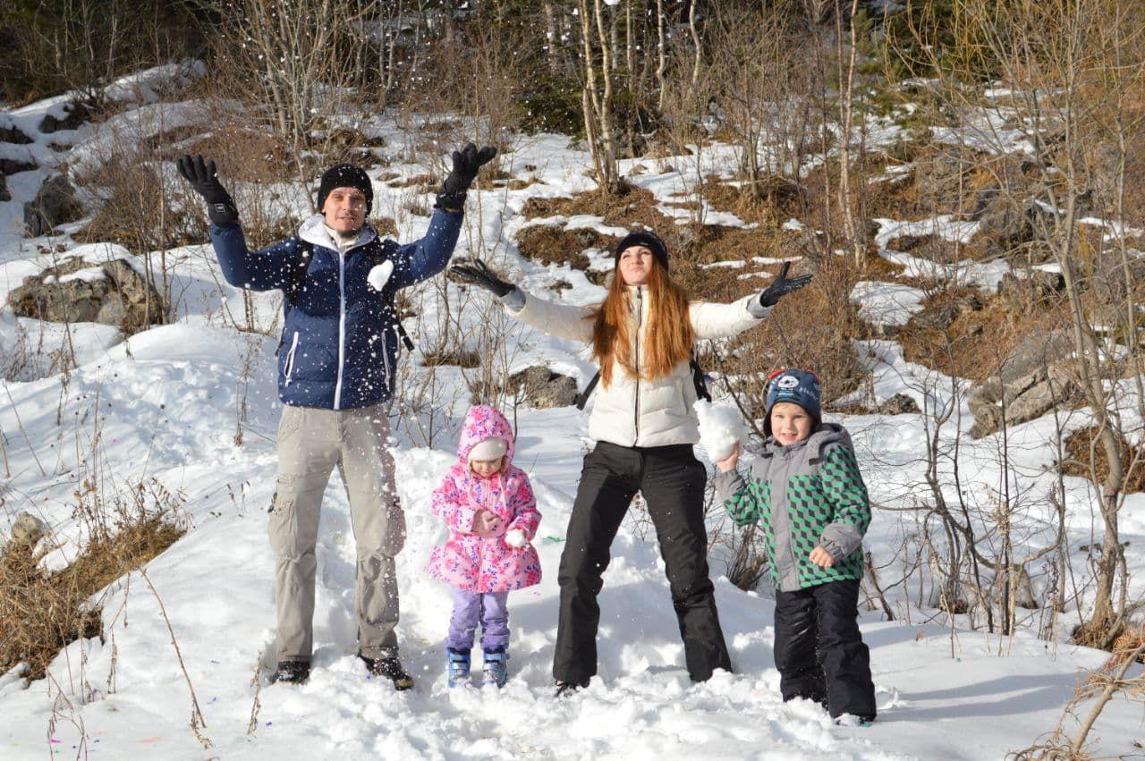 Юлия Чистякова с семьей ©Фотография предоставлена Юлией Чистяковой