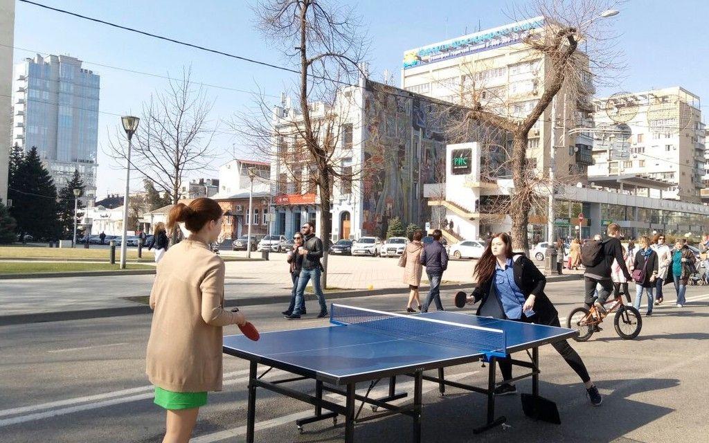 на улице красной в краснодаре в выходные будут ставить теннисные