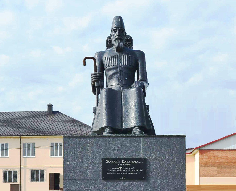 Памятник Жабаги Казаноко в селе Заюково, Кабардино-Балкария ©Изображение предоставлено Виталием Штыбиным