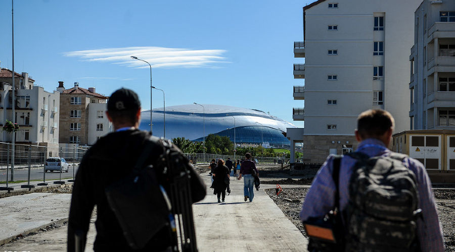 фото строительства основной олимпийской деревни